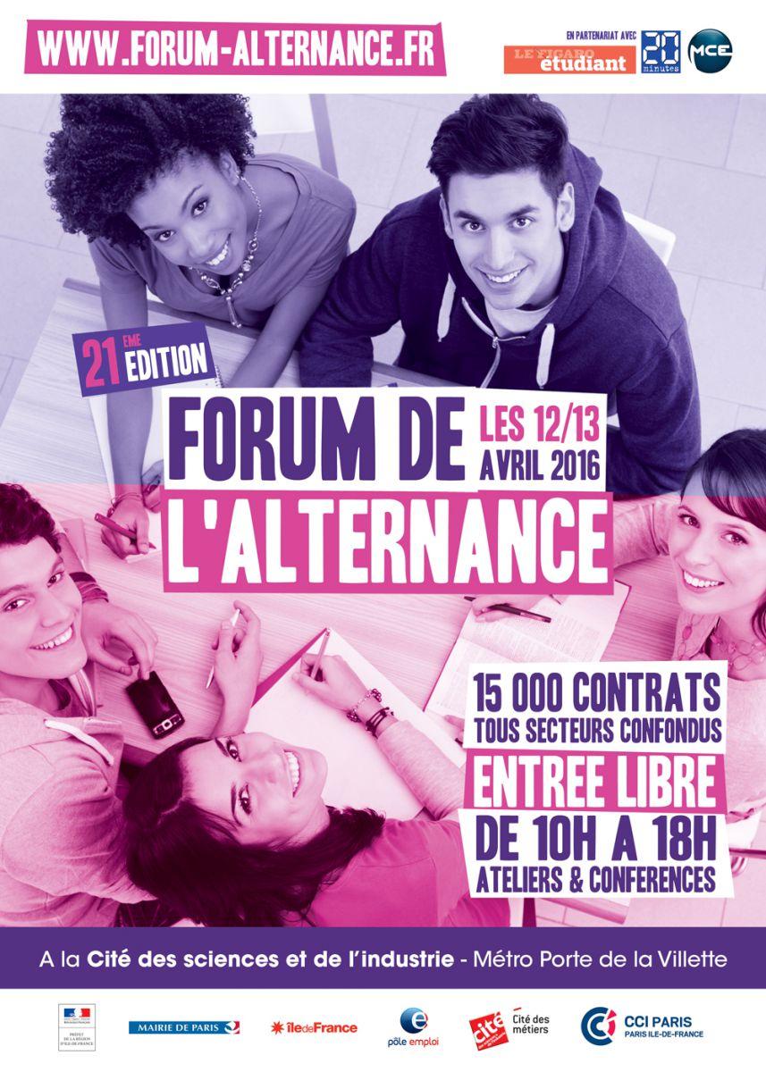 Forum de l alternance 2016 for Salon de l alternance paris