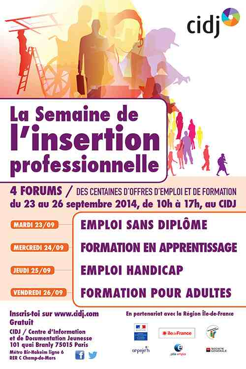 semaine de l u2019insertion professionnelle au cidj